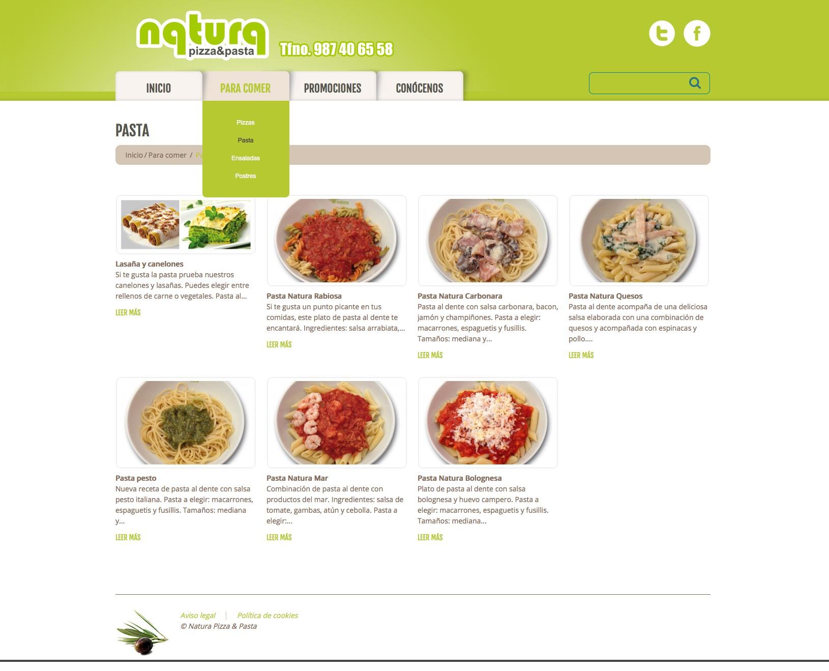 Natura pizzaweb